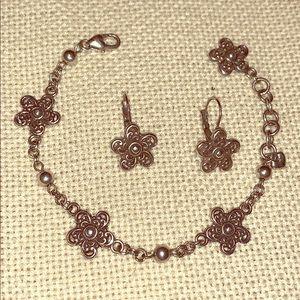 Brighton Passion Flower bracelet and earrings set